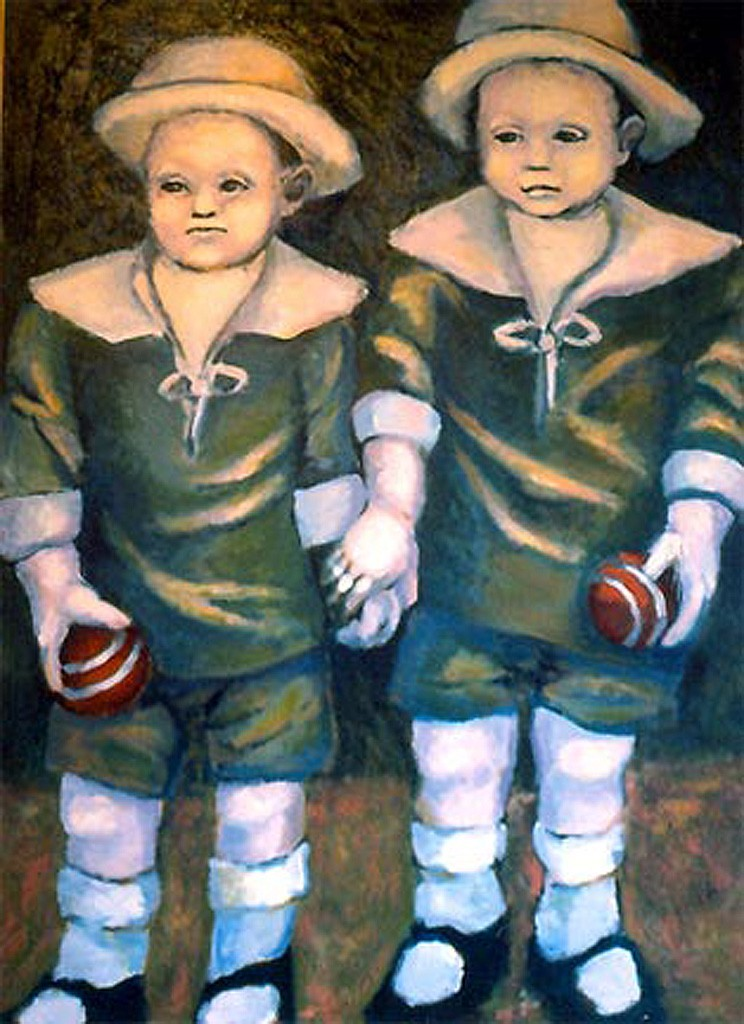 Twins 1984 Acrylic on Canvas 100 x 80 cm