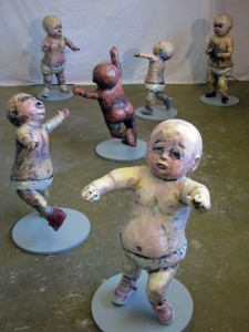 Babies 2014 Mixed Media 16 Life Size Figures