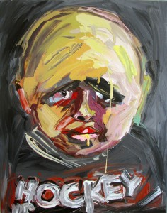 #3 Hockey is My Life 2014 Acrylic on Canvas 14 x 11 in.