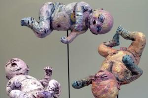 Newborns 2016 Paper Composite & Acrylic Life Size