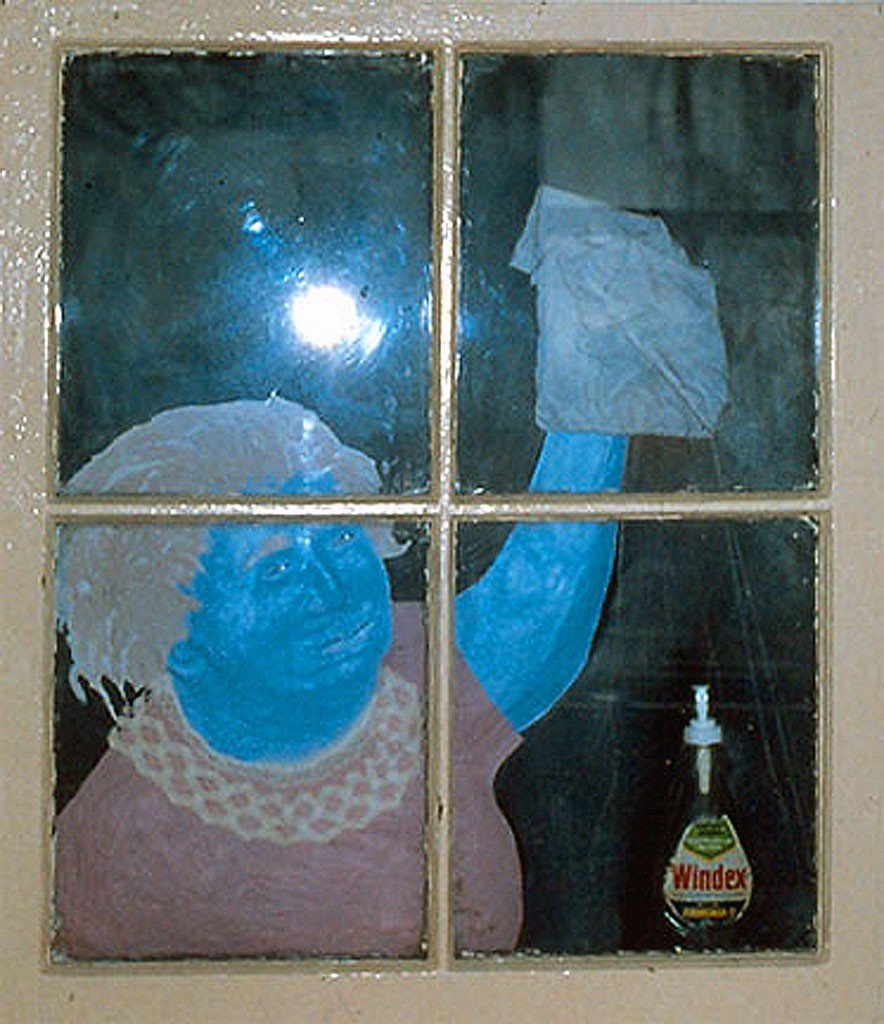 Night Cleaner 1986 Mixed Media 100 x 80 cm