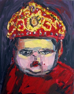 #5 Red Princess 2014 Acrylic on Canvas 14 x 11 in.