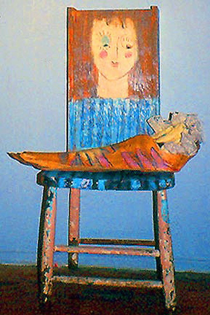 Mom and Baby 1987 Mixed Media 80 x 40 x 25 cm