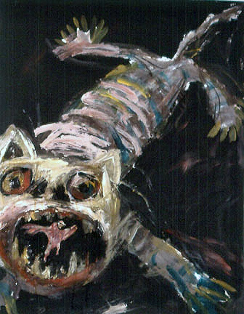 Bad Cat 1990 Mixed Media 115 x 80 cm