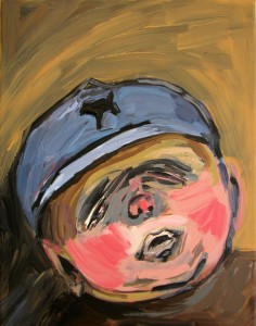 #12 Lovely Boy Acrylic on Canvas 14 x 11 in.