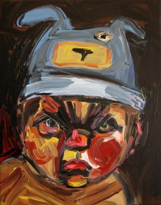 #14 Angry Boy Acrylic on Canvas 14 x 11 in.