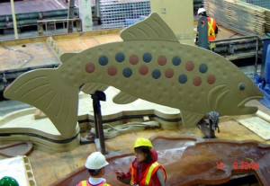 Jumping Trout (Fabrication) 2007  Concrete 4.42 m