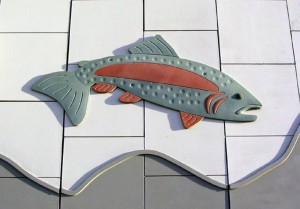 Jumping Trout (Rainbow) 2007 Concrete 4.42 m