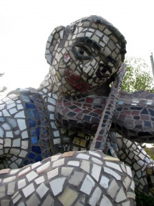 Mosaic Fiddler 2007 Mixed Media 220 x 117 x 104 cm