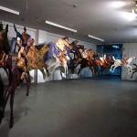Horses and Riders 1988 Papier-mâché 24 Horses 60 - 240 cm